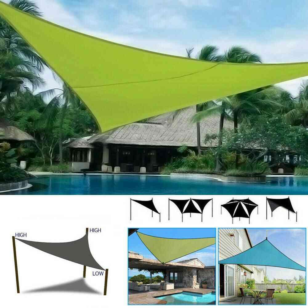 Uv Block Shade Sail Shelter Awning Fabric Waterproof Sunshade Cloth Canopy