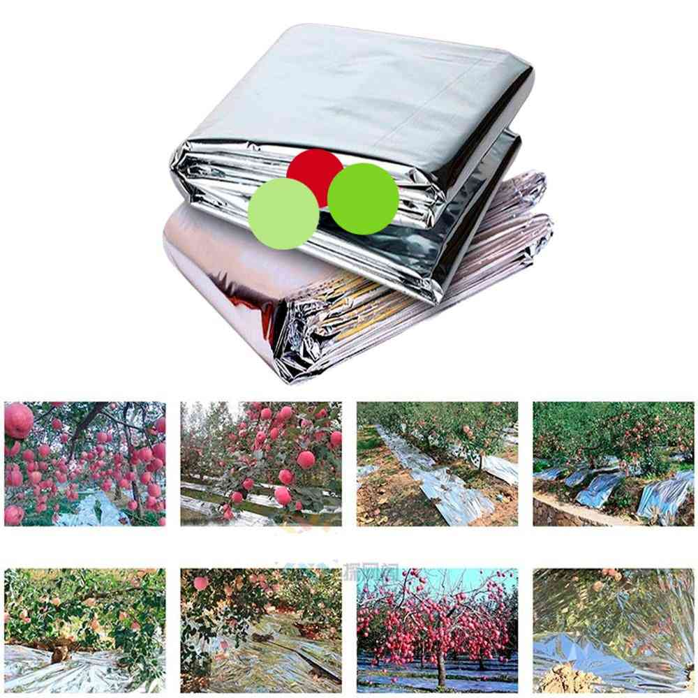 Reflective Mylar Film Patch Agricultural Silver Coated Mulch Fruit Promoting Red Warm Blanket