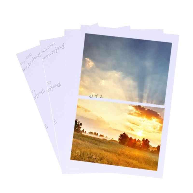 Sheets Glossy, Photo Paper For Inkjet Printer
