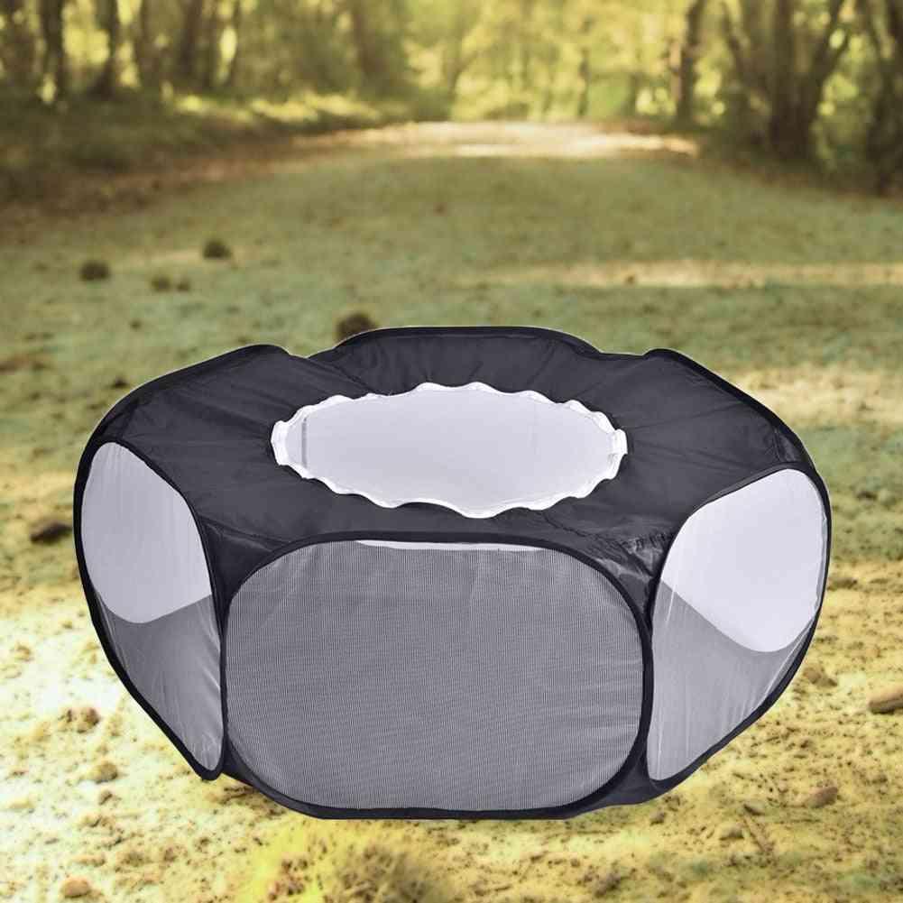 Portable Pop Open Indoor / Outdoor Small Animal Cage