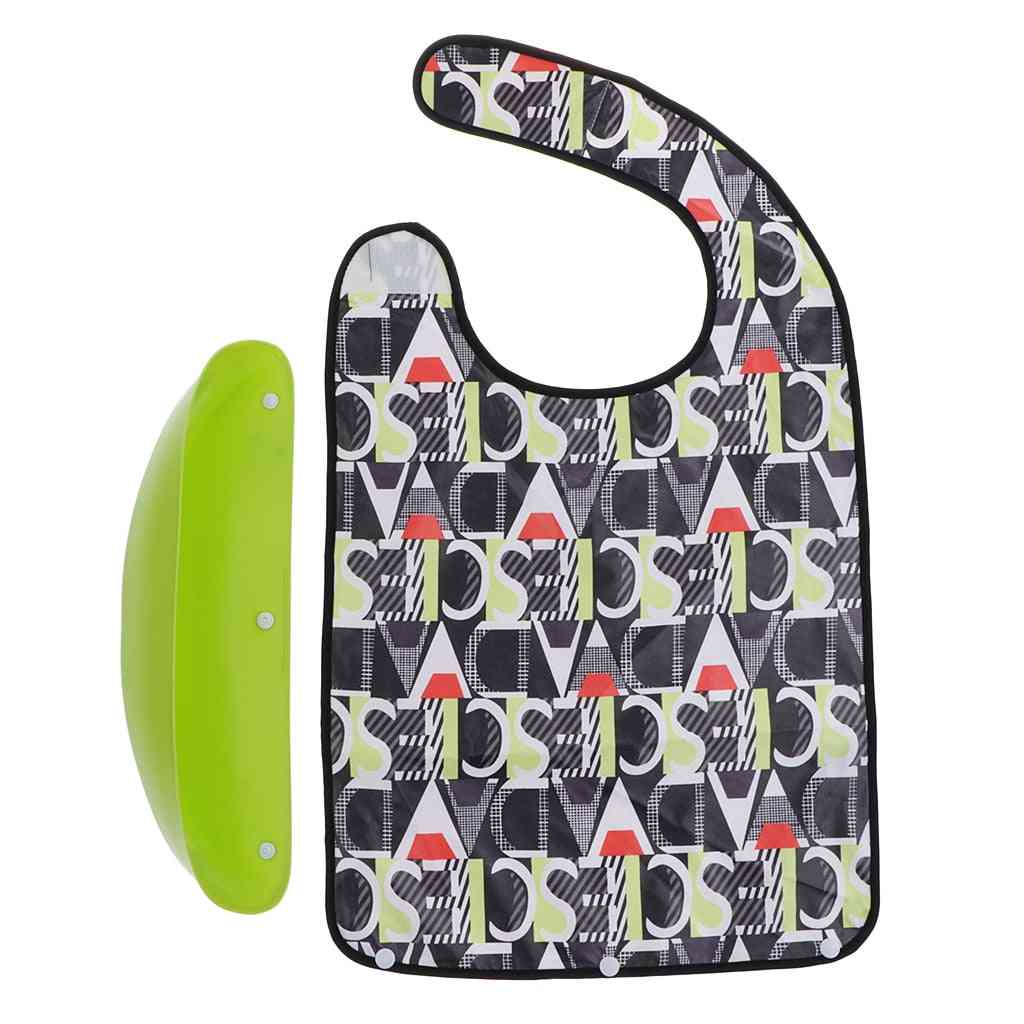 Large Adult Mealtime Clothes Protector Bib