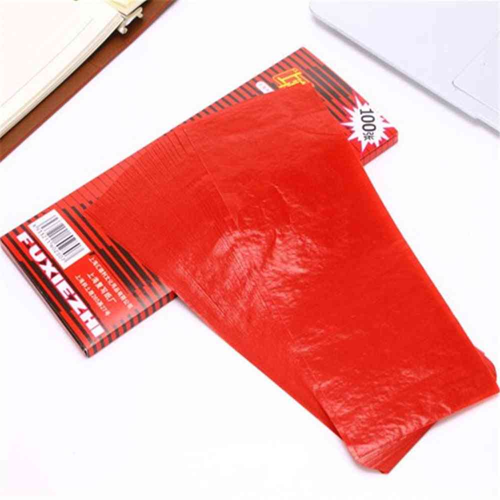 Red Carbon Stencil Transfer Paper, Double Sided Hand Pro Copier Tracing Hectograph