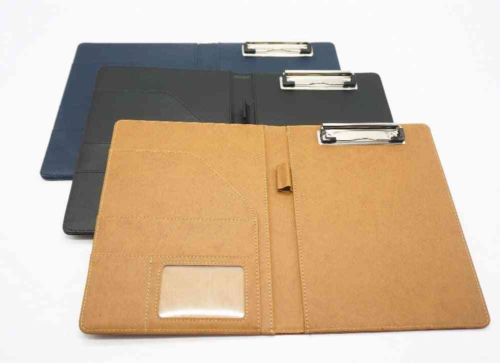 Document Bag File Folder, Clip Board, Business, Office, Financial School Supplies, Faux Leather Made