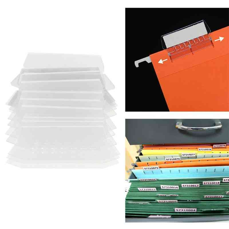 Classification Tag Pvc Hanging File Holder, Index Label Strip, Organize And Distinguish Files