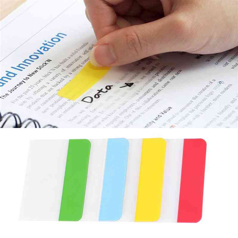N Times Stickers, Re-stickable, Durable, Bookmarks Classified Index Sticker Page Markers For Student, Stationery Reading Accessory