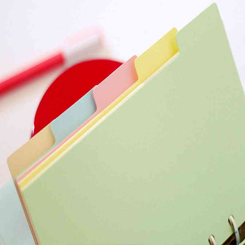Index Page Notebook Slip Sheet, Paper Bookmark, School, Office, Binding Supplies