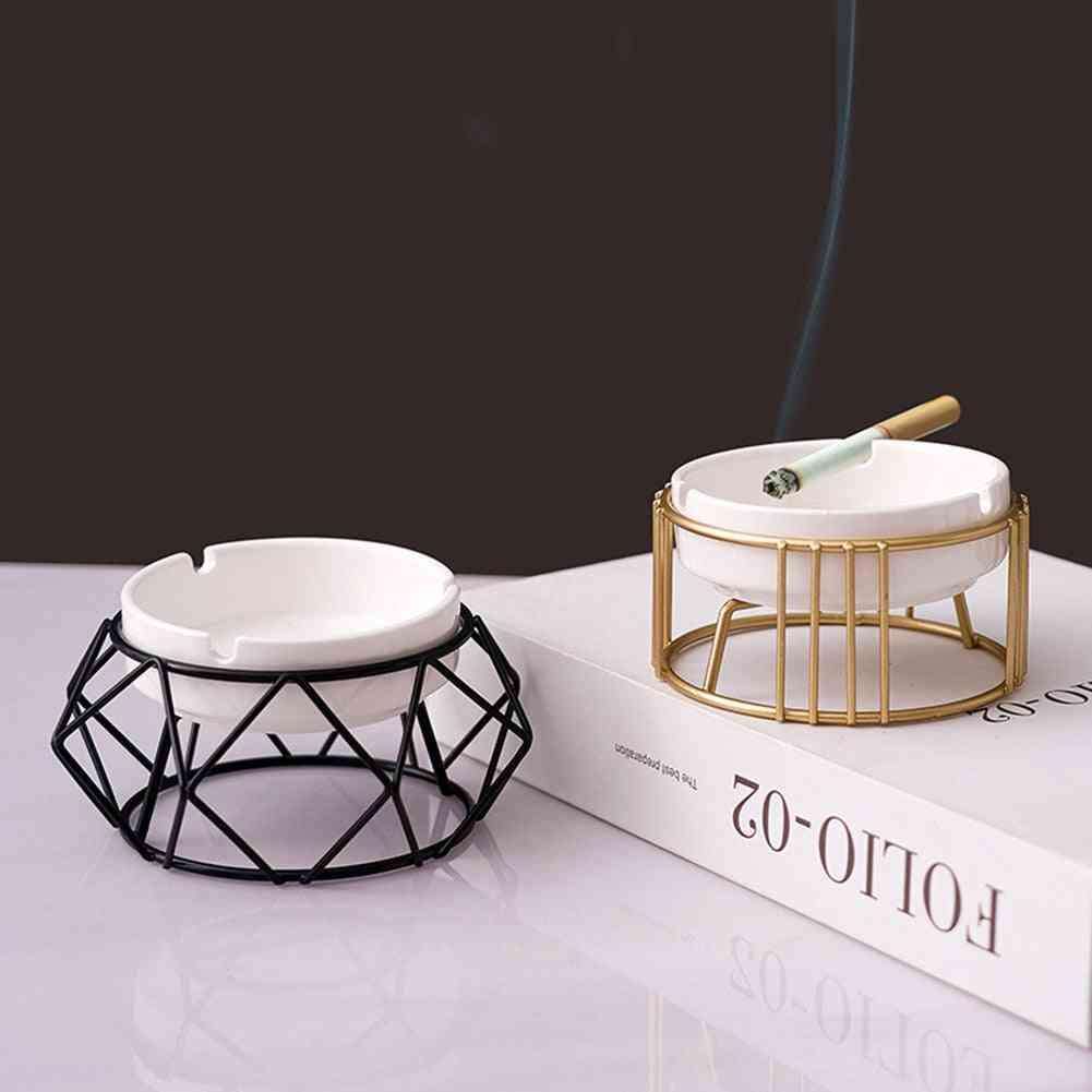 Ceramic Ashtray, Hollow Out Ash Tray