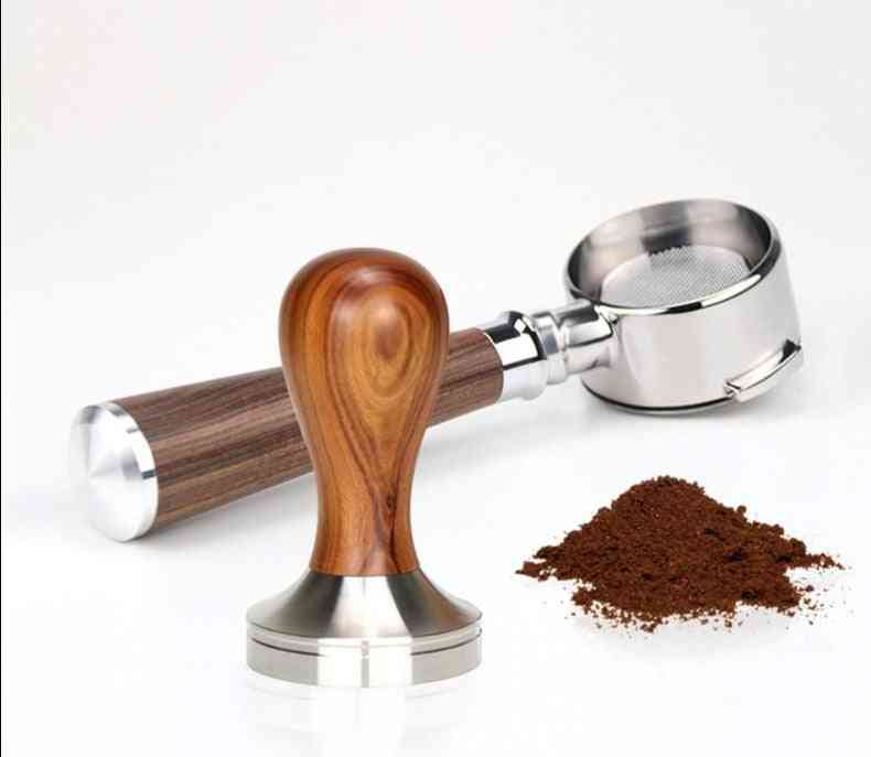 Tamper Coffee Powder Handle 304 Stainless Steel And Solid Wood