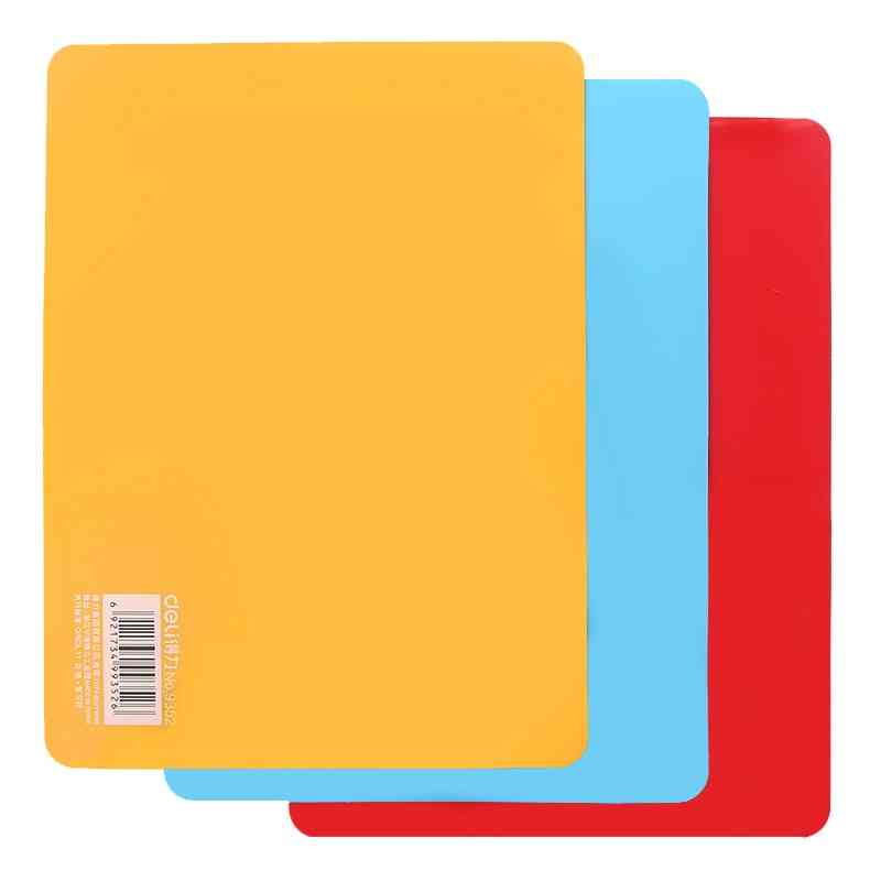Plastic Clipboard Writing Board, Pad, Stationery Cutting Mat, School, Office Space Plate