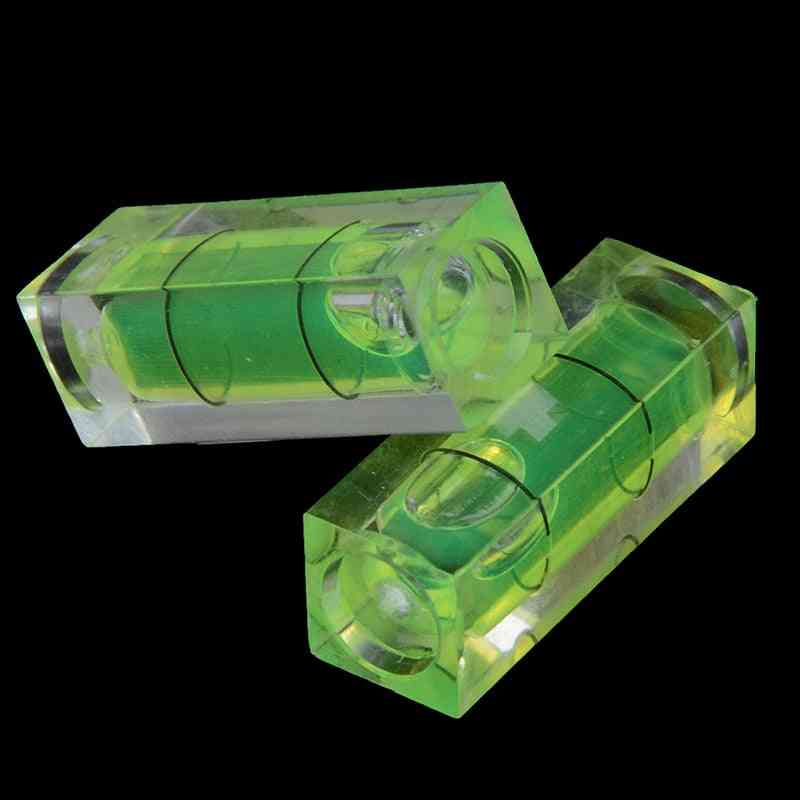 Square Spirit Level Bubble With Magnetic Stripe, Degree Mark Surface, Measuring Tool