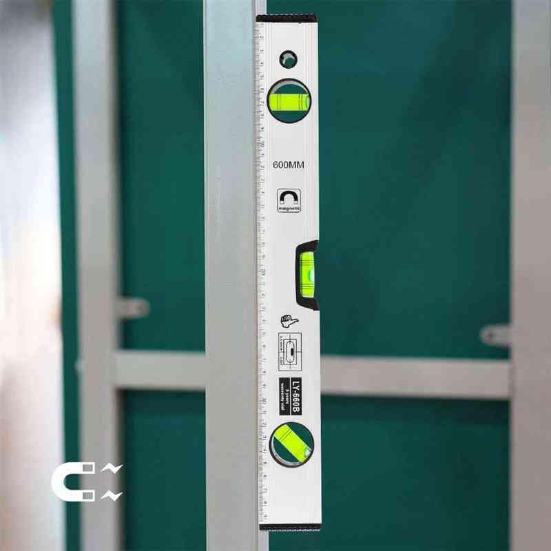 Spirit Level, Aluminum Alloy Ruler, High-precision, Flat, Magnetic Balance Home Decoration