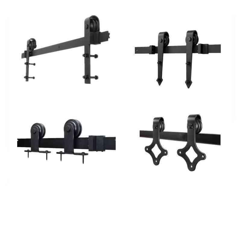 Europe Rustic Black Sliding Hardware Cabinet Wood Door Track Kit