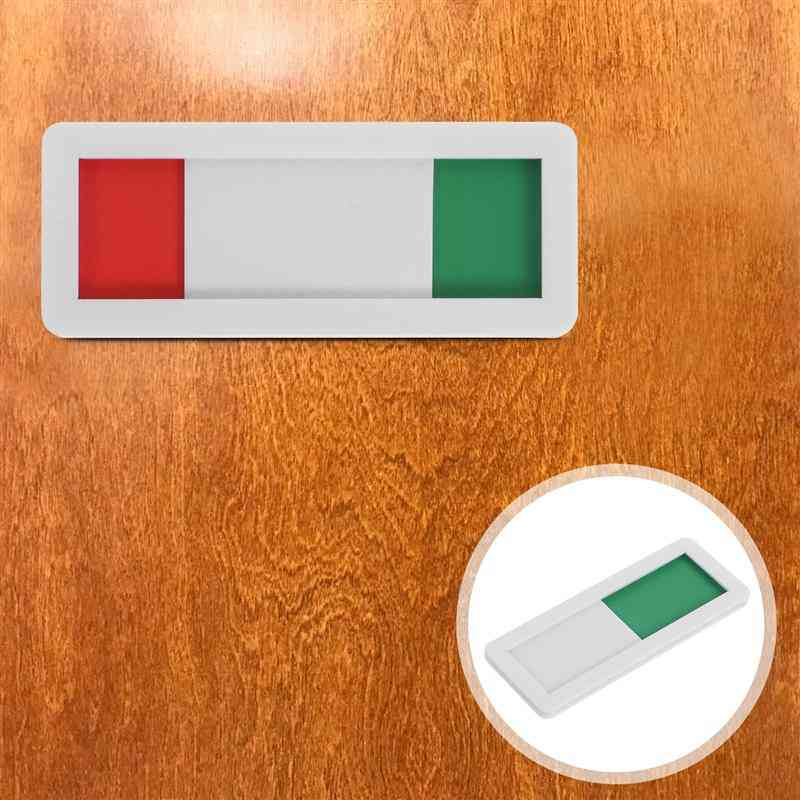 Acrylic Great Slider Privacy Indicator, Sign For Shop, Office, Restroom