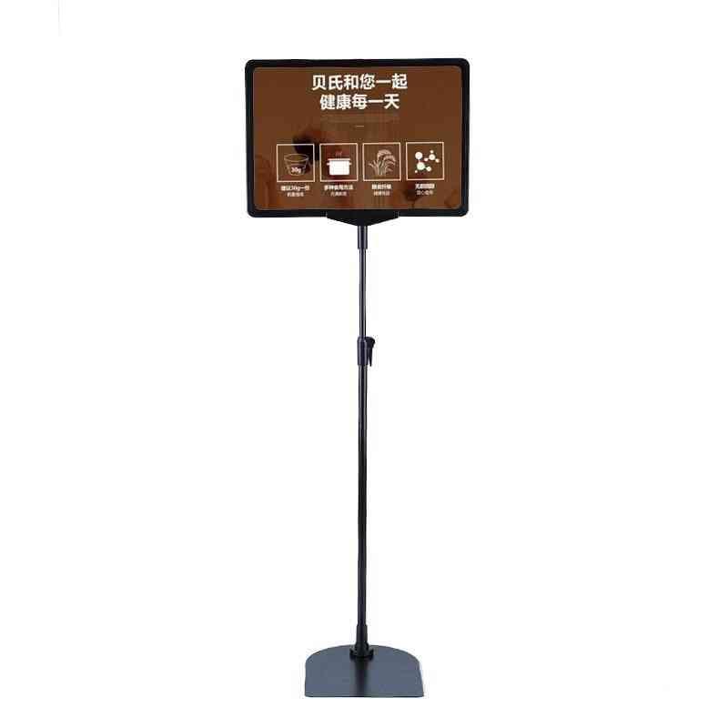 Height Adjustable Stainless Steel Poster Display Frame, Promotion Sign Holder, Sales Cardboard Display Racks Stand