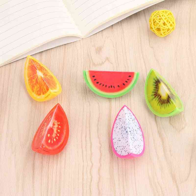 Novelty Fruit Plastic Pencil Sharpener - Pencil Cutter Knife
