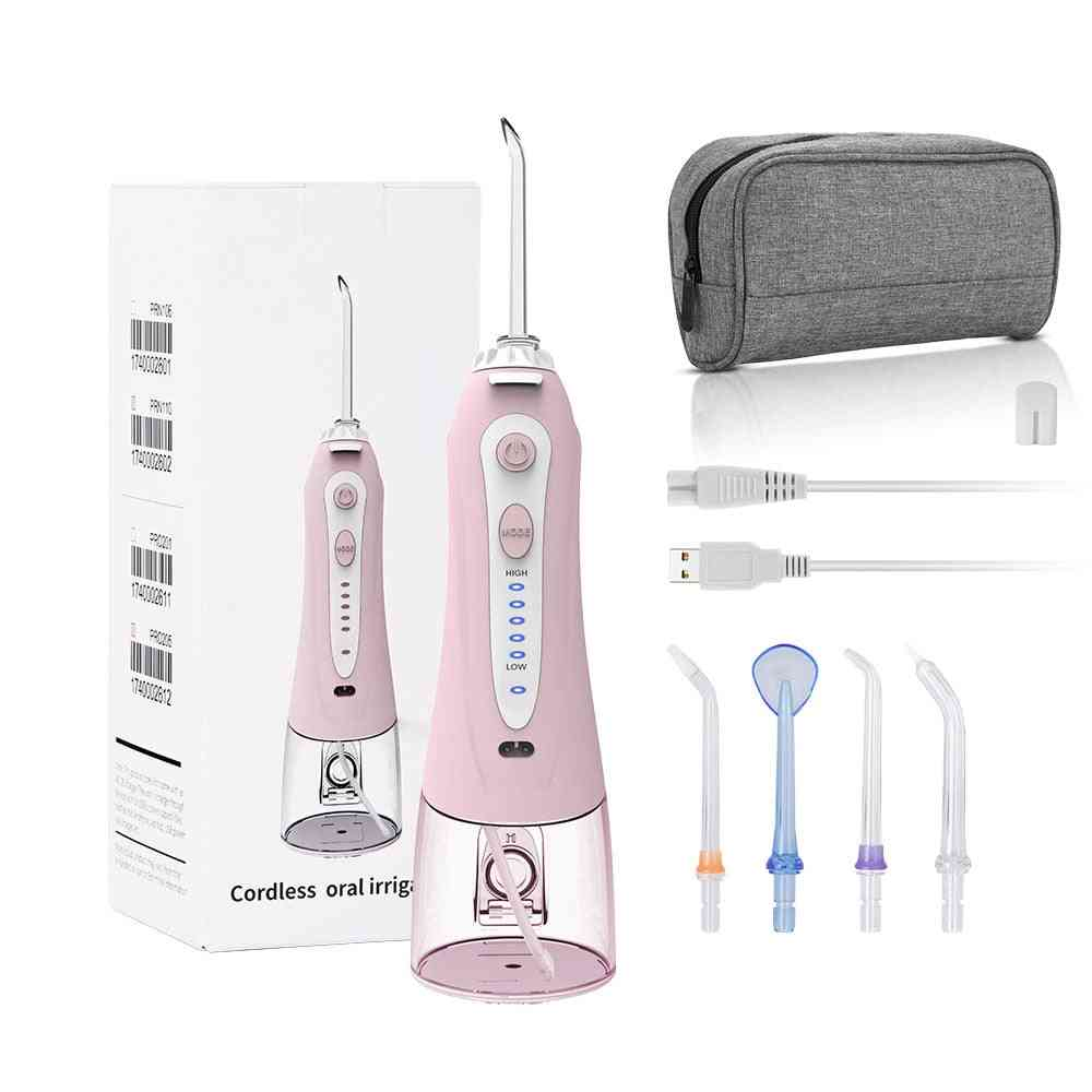 Cordless Oral Irrigator Portable Water Dental Flosser Water Jet Floss Tooth Pick