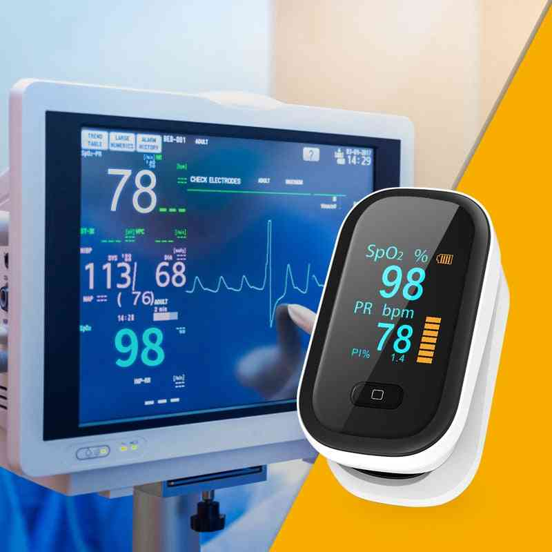Professional Pulse Oximeter, Oled Blood Oxygen Pr Blood Oxygen Saturation Meter, Heart Rate Sensor Monitor