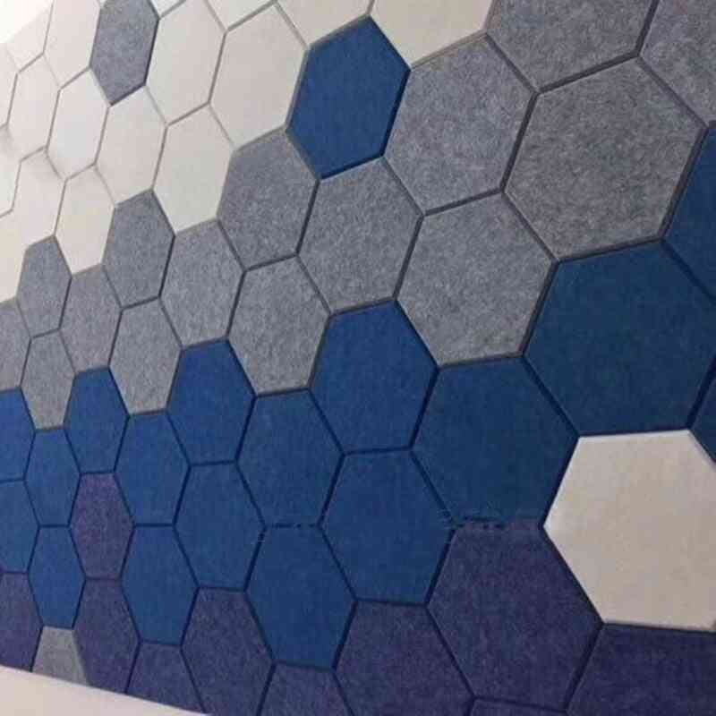 Hexagon Acoustic Absorption Panel Board