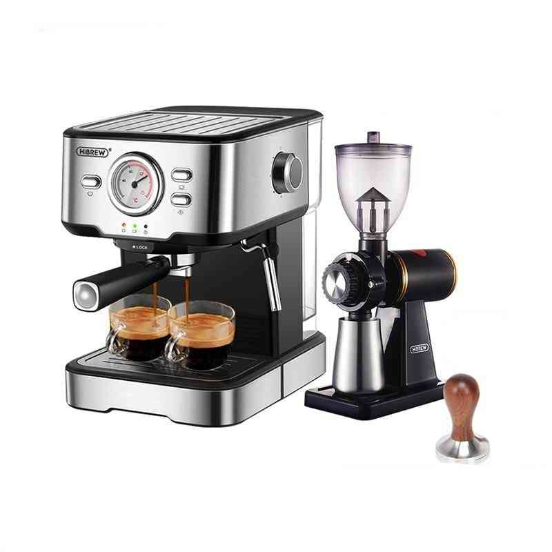 Coffee Machine Inox Semi Automatic Hot Water Steam Temperature Display H5