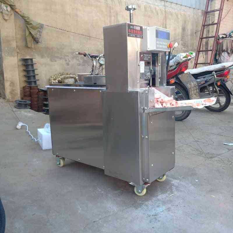 Electric Lamb Roll / Food Slicer And Freezing Beef Meat Cutting Machine