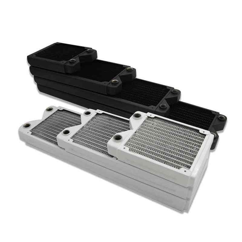 27mm Thick Full Copper Pc Radiator,thin Water Cooling Row Support 12cm Fan 120/240/360/480mm Black/white