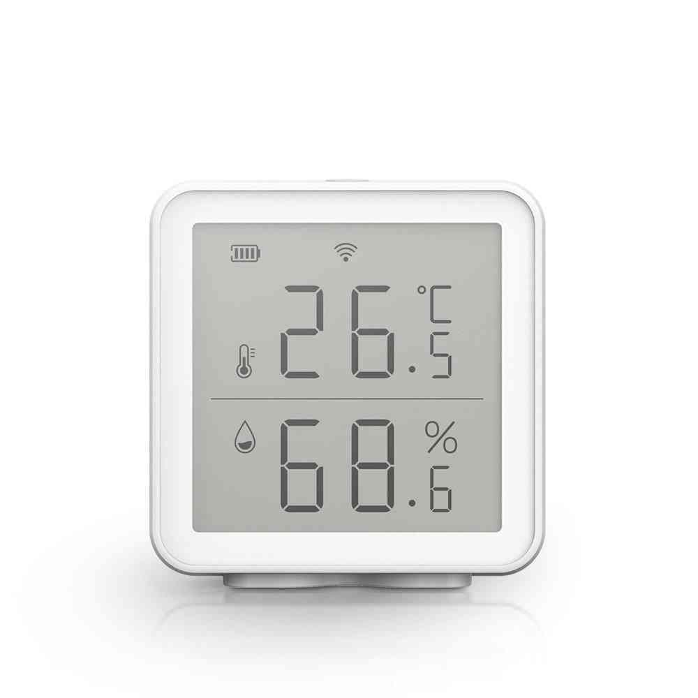 Wifi Smart Temperature And Humidity Sensor With Led Screen