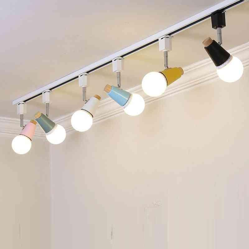 Modern Led Track Lamp. Colorful Rail Spotlights