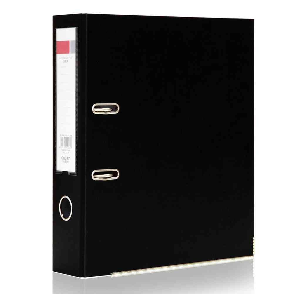 A4 Metal Ring Binder Folder, Clipbar, Organizer