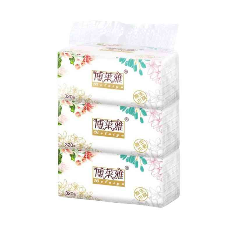 Facial Tissue, Soft  Paper Tissues Per Pack, Household Soft Skin-friendly Paper Towels