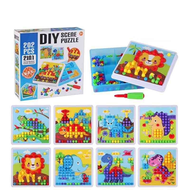 Children Tool, Screw Building Block 3d Puzzle Educational For Pretend Play Games