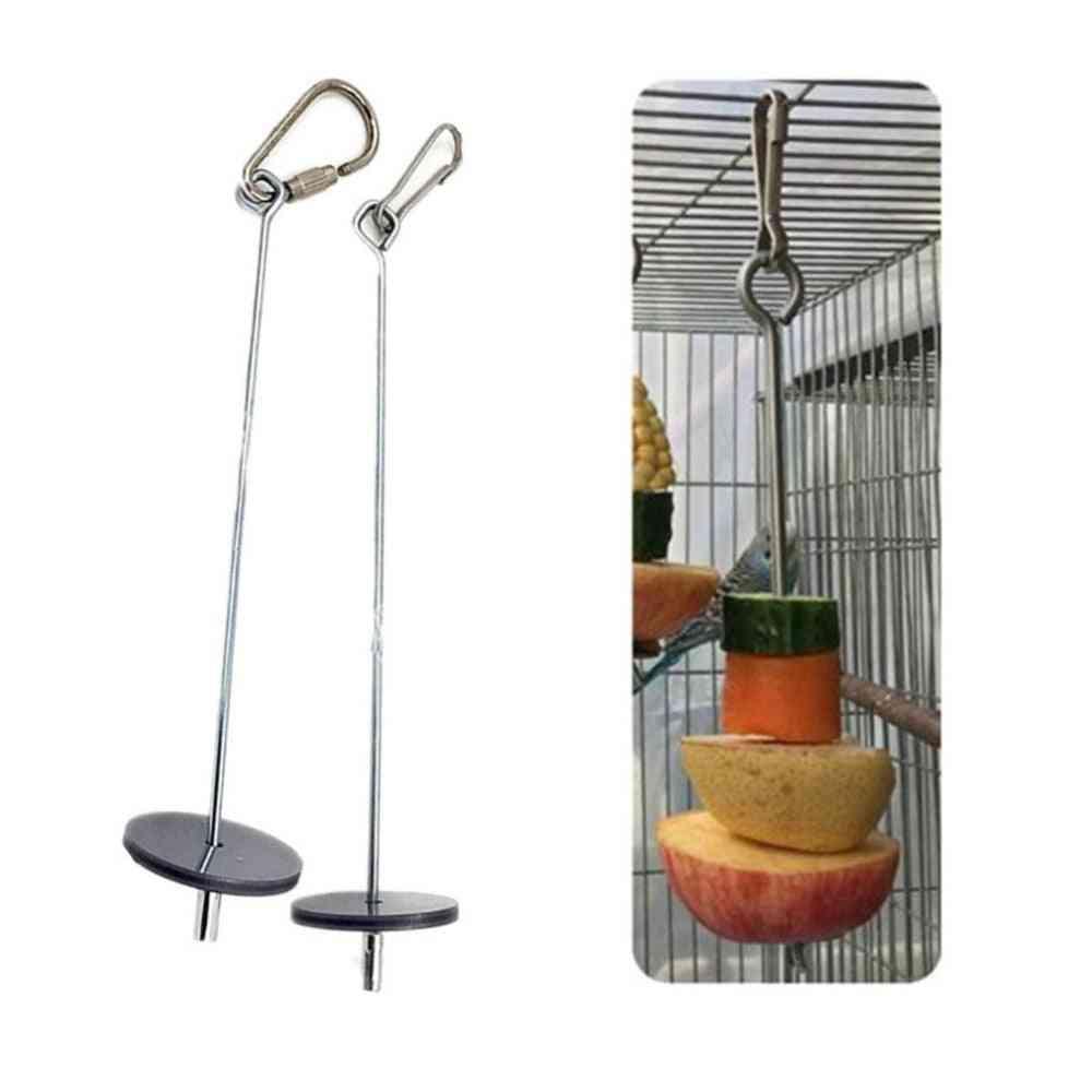 Pet Parrots Birds Food Holder Support Stick Meat/fruit /vegetable Skewer