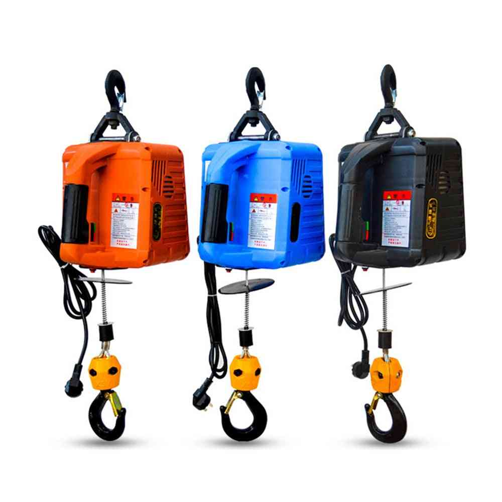 500kg Electric Hoist Portable Electric Hand Winch Traction Block Electric Steel Wire Rope Lifting Hoist Towing Rope 220v/110v
