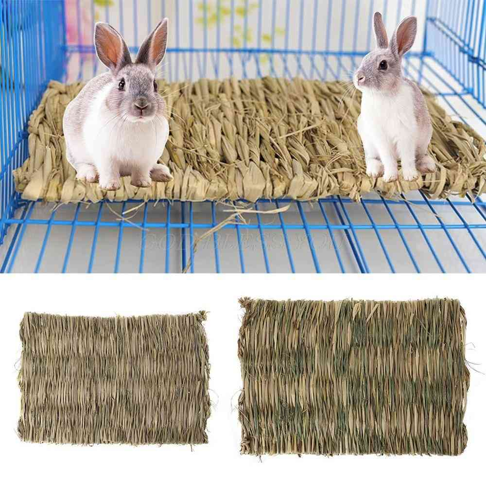 Rabbit Grass Chew Mat Small Animal Hamster Guinea Pig Cage Bed House Pad