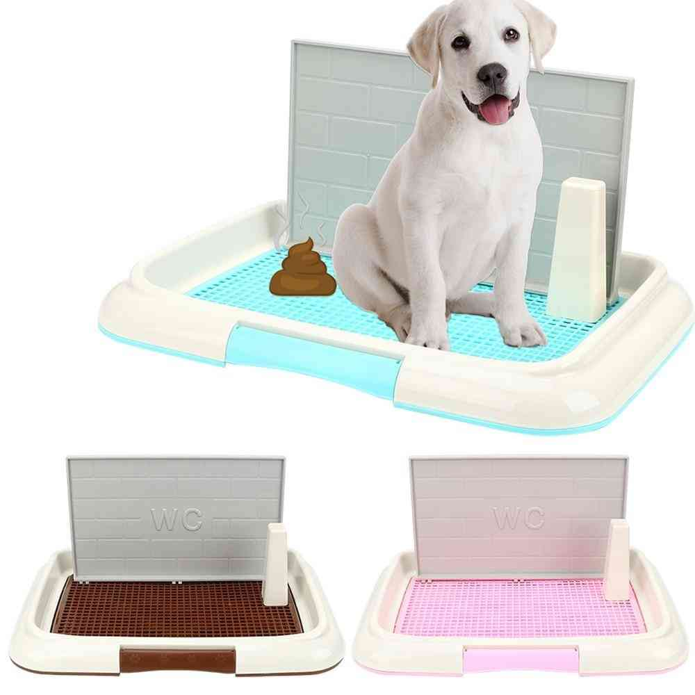 Portable Pet Dog Cat Toilet Lattice Tray With Column Urinal Bowl