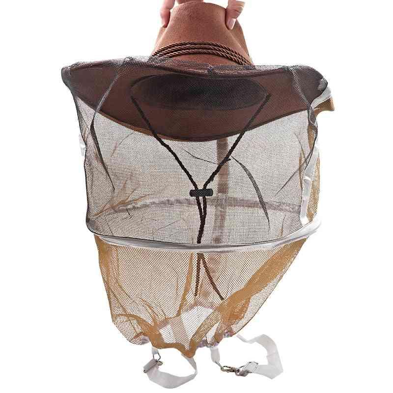 Beekeeping Hat Anti Bee Hat Protective Net /beekeeping Equipments