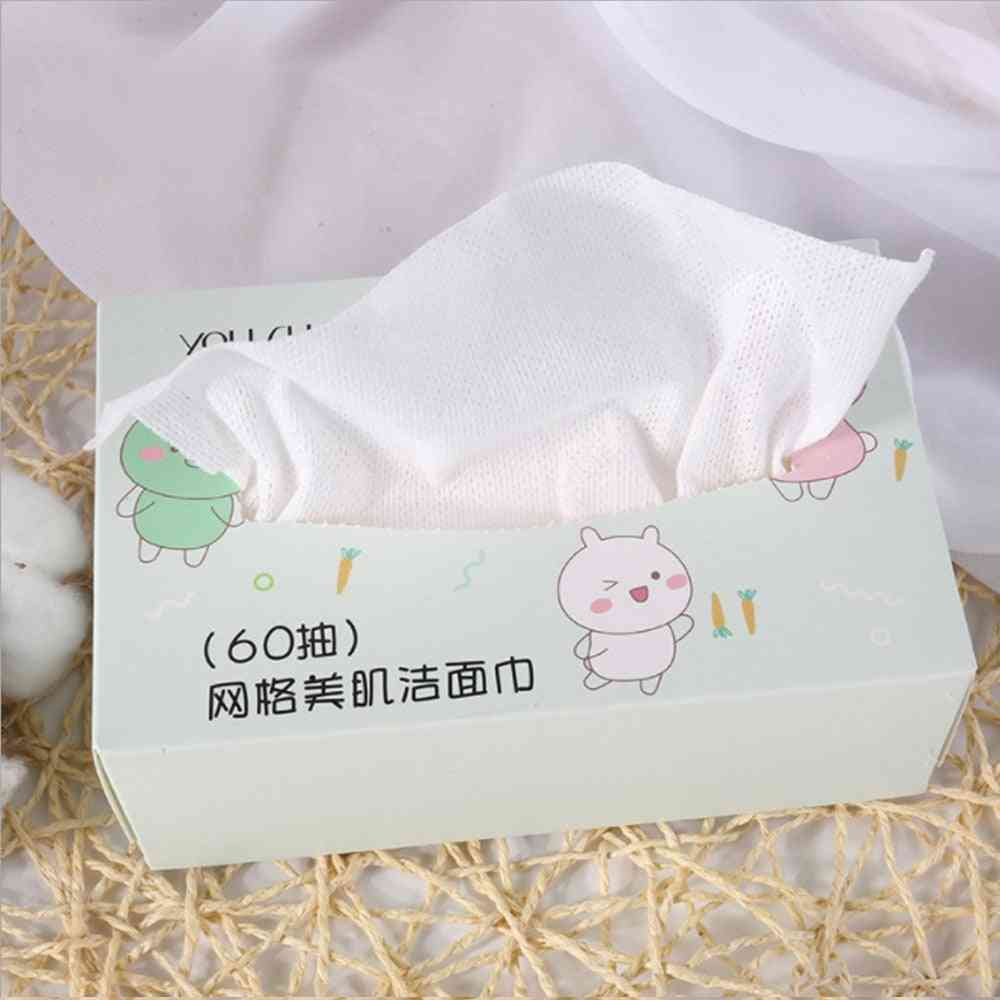 Travel Cotton Mesh Disposable Wash Towel, Soft Clean Beauty Uncompressed, Wet And Dry Towels