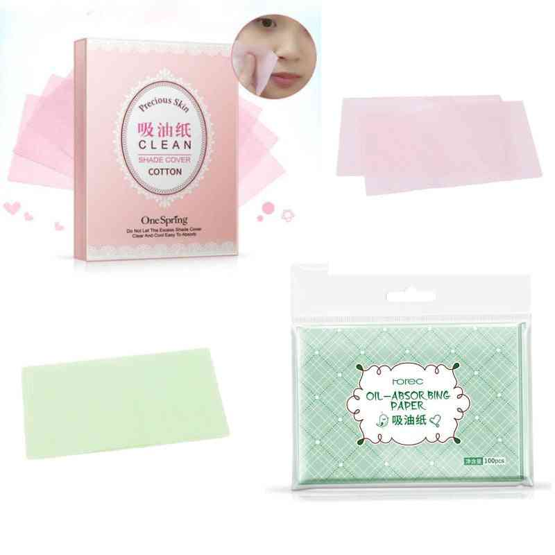 Skin Oil Control Paper Face Cleaner, Absorbing Blotting Sheets, Tissue Papers