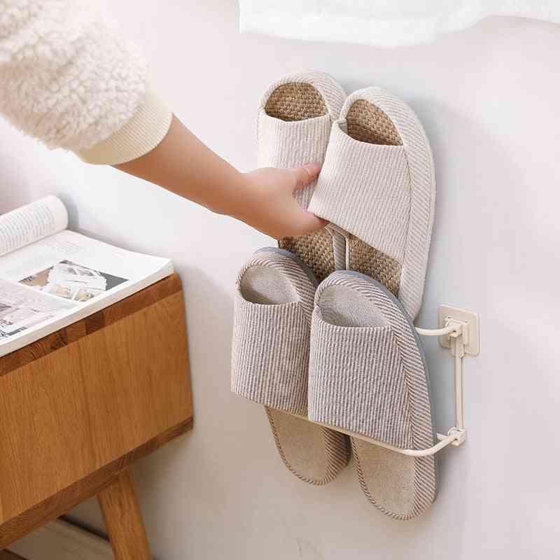 Mounted Shoe Rack Foldable Shoes Hanger