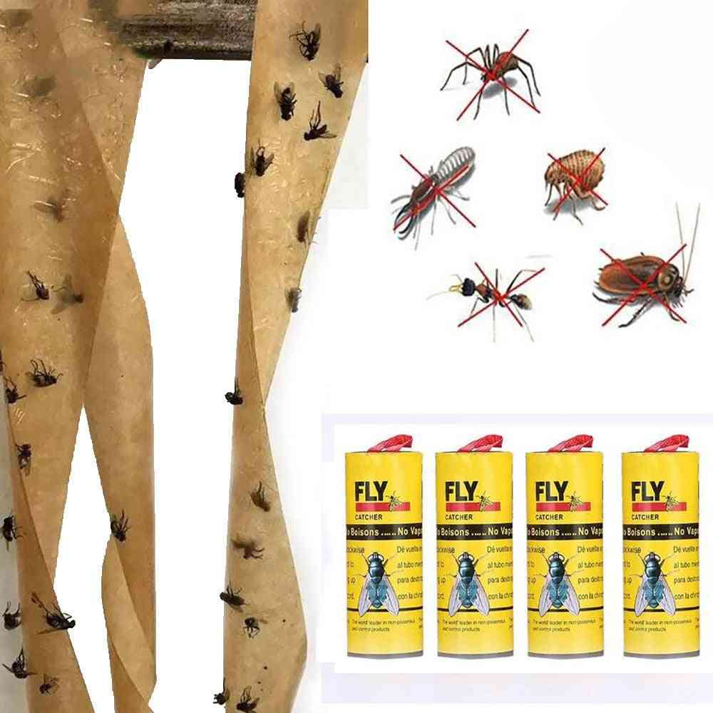 Eliminate Flies Insect Glue Paper Catcher Trap Sticky Fly Stickers