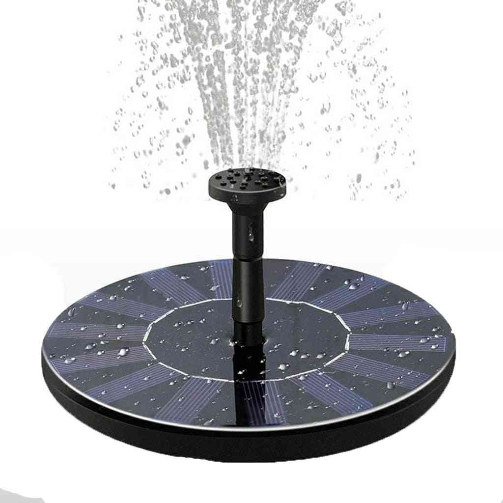 4 Nozzles Mini Solar Power Water Fountain Pump For Bird Bath Fountain Free Standing