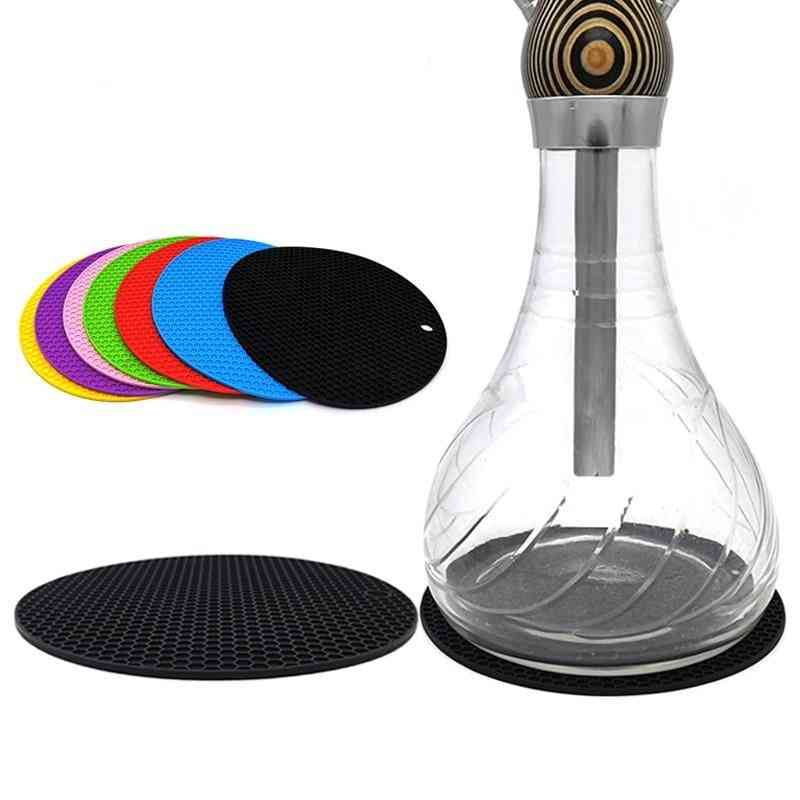 Round Honeycomb Design Hookah Silicone Mat Special For Shisha Glass Base Protect
