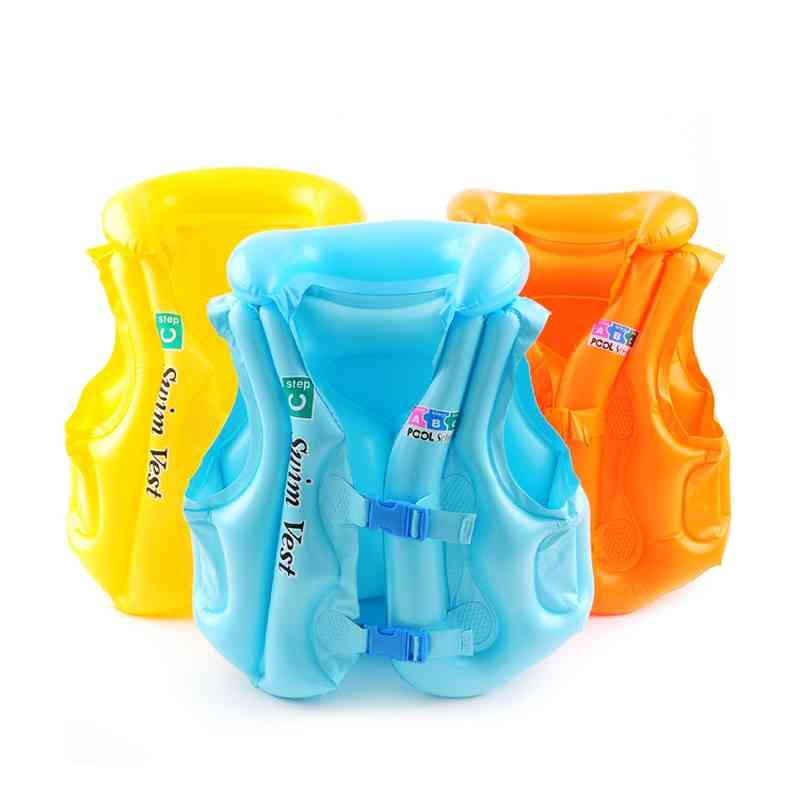 Pvc Float Inflatable Swimming Baby Life Jackets For Kids