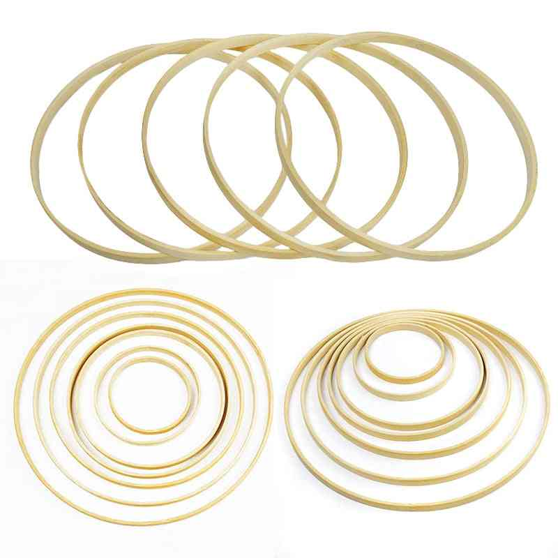 Ring Round Wooden Bamboo Hoop Frame Craft Tools Wedding Decoration