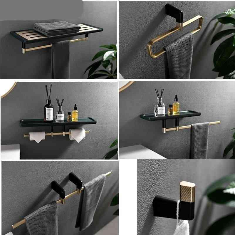 Bathroom Shelf Accessory With Wood