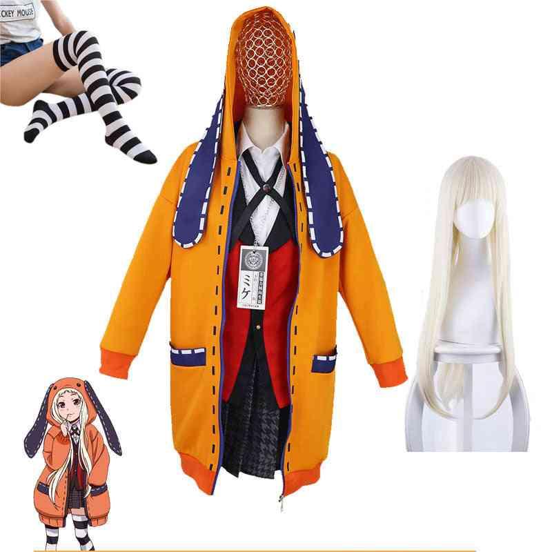 Anime Kakegurui School Girl Jk Uniform Set