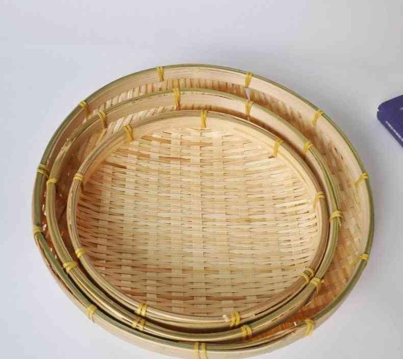 Round Dustpan Diy Decorative Fruit Bread Basket