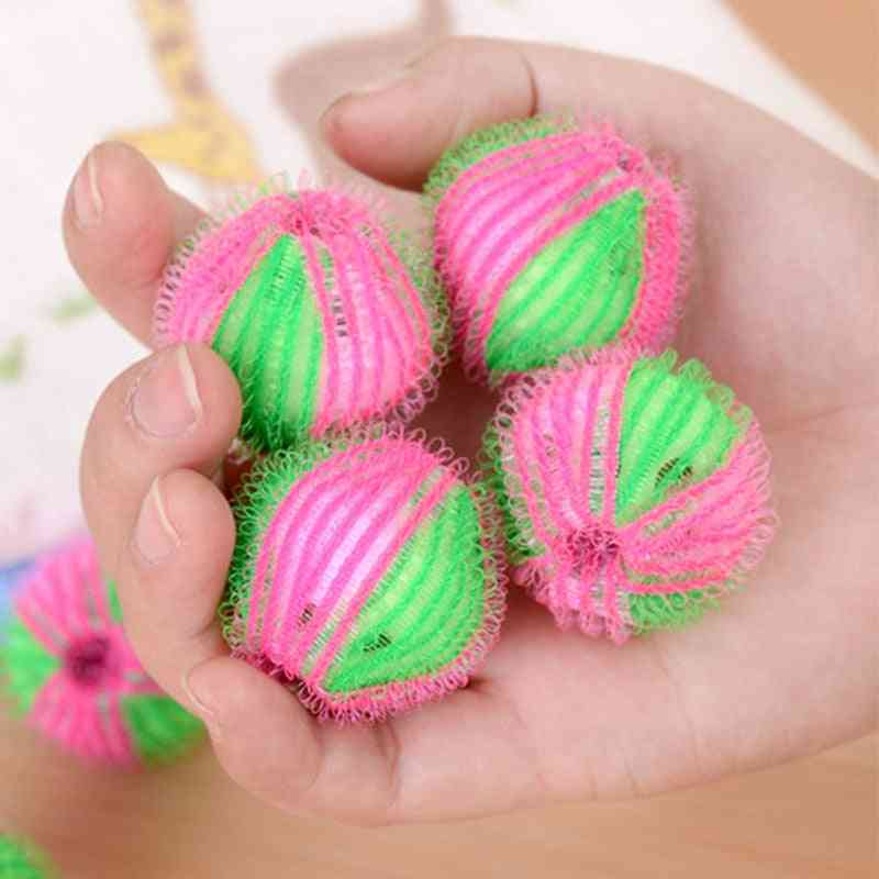 2/4/6pcs/set Washing Ball Reusable Clean Tools Washing Machine Balls Magic Decontamination Plastic Laundry Ball Dryer Balls