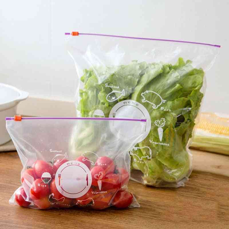 Vegetable Fruit Storage Freezing Preservation Zipper Sealed Bags