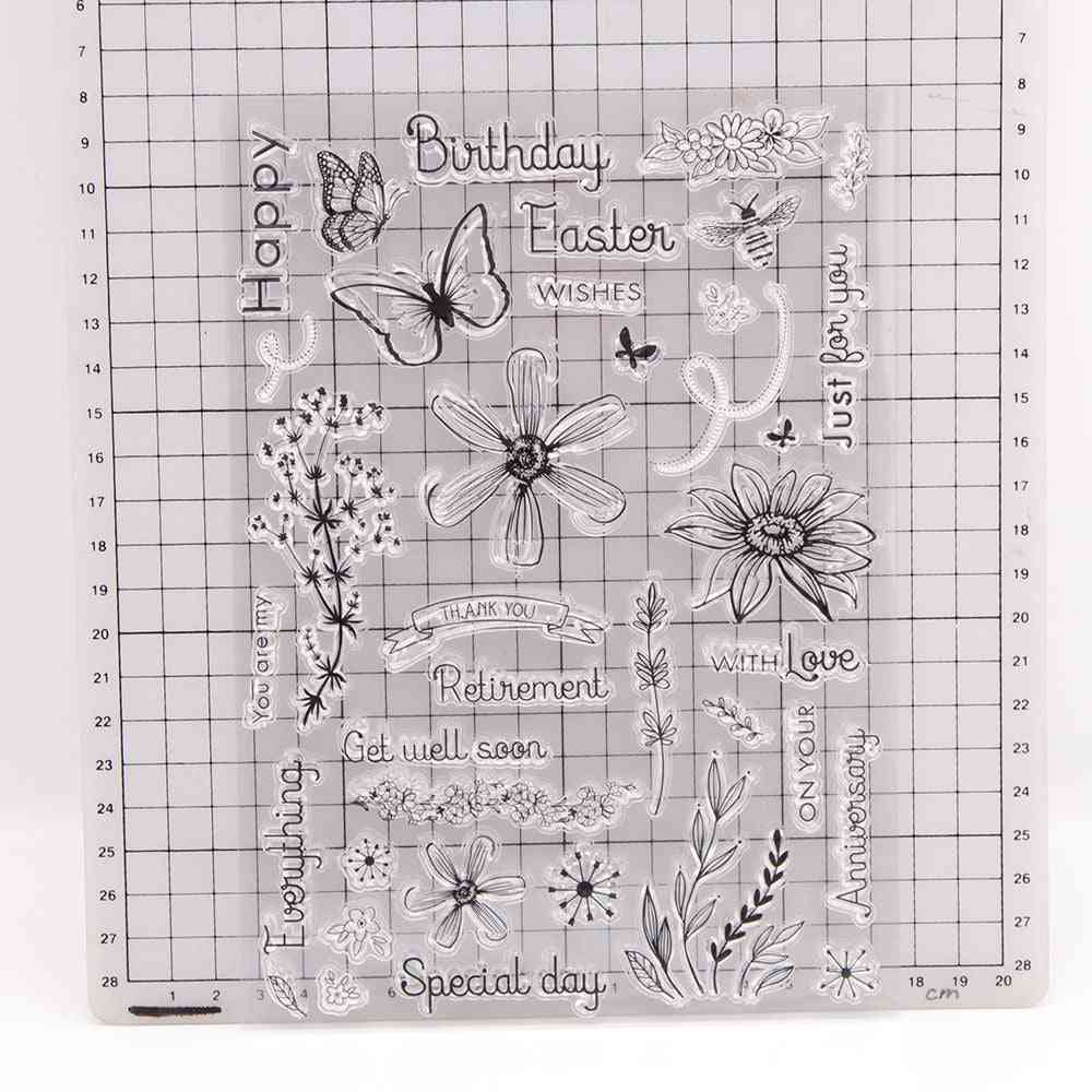Easter Flowers Clear Stamps