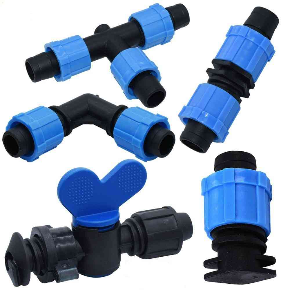 Micro Irrigation Drip Tape Valve Connectors Tee End Plug/ Pipe Hose Joints